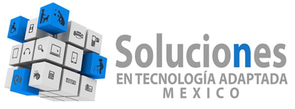 Logo oficial de STA M�xico. Cubo de Rubik en azul y blanco y nombre comercial. Derechos Reservados